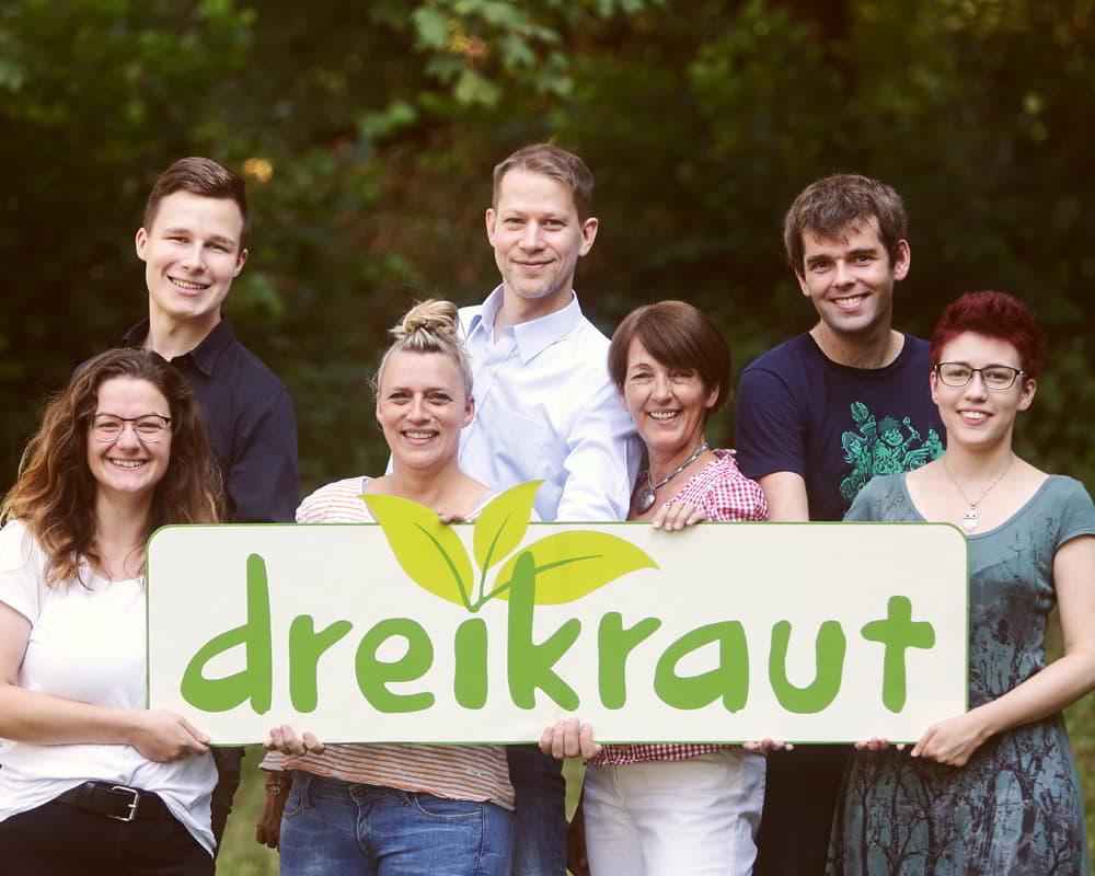 Foto vom Dreikraut-Team