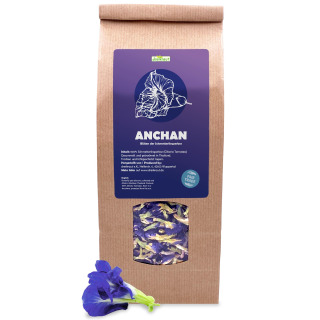 Anchan - Blautee - Schmetterlings-Erbse, ganze Blüten aus Nordthailand, getrocknet, Großpackung, 100g