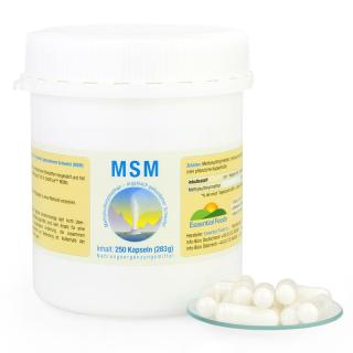 MSM Kapseln kaufen organisch gebundener Schwefel vegan Keratin und Kollagen