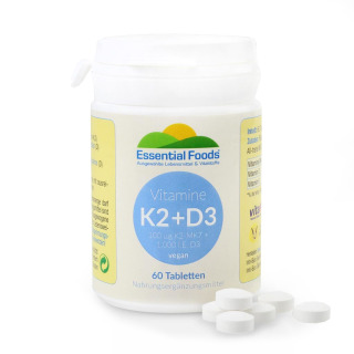 D3 with K2 - The strong duo for  bones, 60 tablets