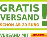 Gratis Versand ab 20 € mit DHL